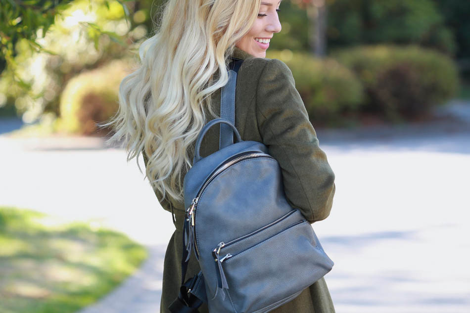 Carry On Faux Leather Backpack