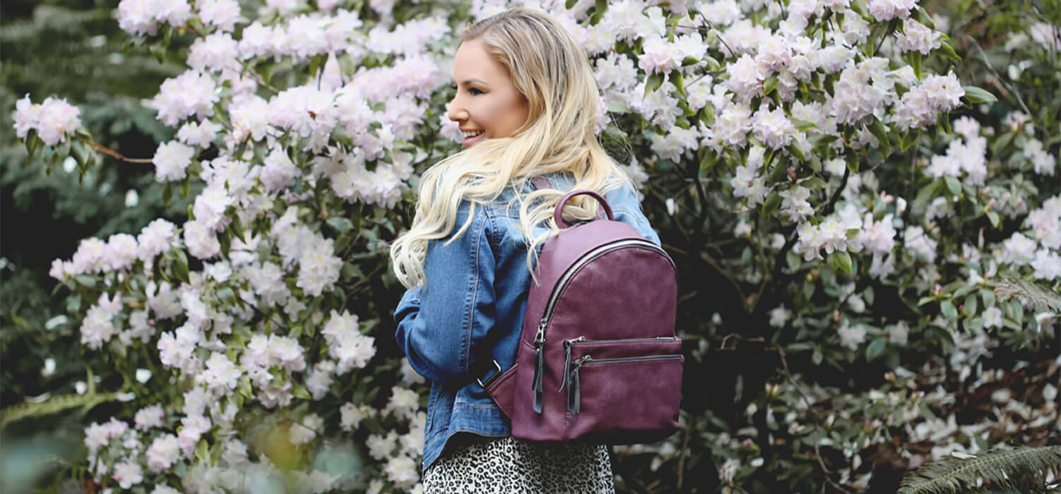 How to Wear a Faux Leather Backpack